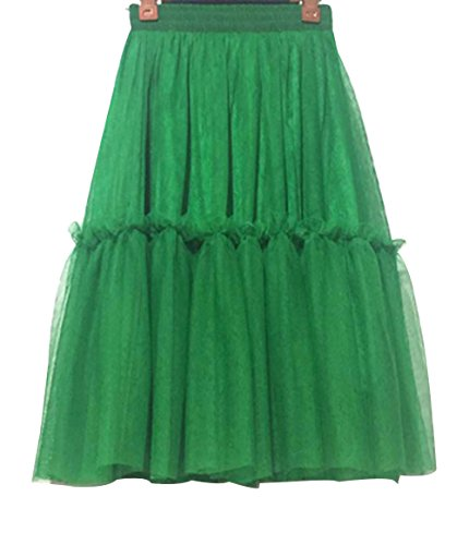 CoutureBridal® Femme Jupe Tutu 3 Couches Elastic Ceinture Princesse Tulle 60CM Vert
