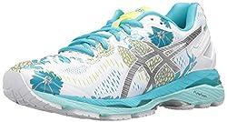 ASICS Womens Gel-Kayano 23 Running Shoe, White/Silver/Aquarium, 7.5 M US