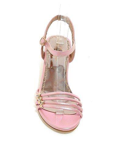 UWSZZ IL Sandali eleganti comfort Scarpe Donna-Sandali-Casual-Aperta-Quadrato-Finta pelle-Rosa / Viola / Bianco / Dorato golden