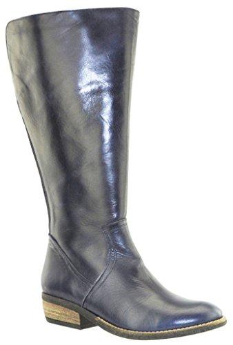 JJ Footwear Damen Stiefel Leder Alexandria XL Blau