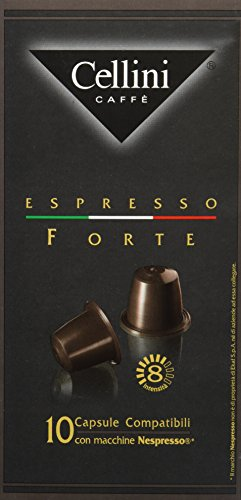 Cellini Espresso Forte 10 Kapseln, 5er Pack (5 x 50 g)