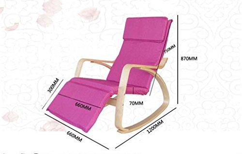 Sgabello in legno divano sedia a dondolo nordic happy chair
