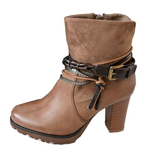 bequeme-plateau-stiefelette-ankle-bootie-high-stiefel-riemen-bander-reissverschluss-kunstleder-8294-