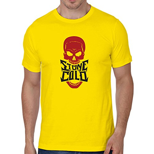 Cotton Men'S Half Sleeve Casual Printed Stone Cold T-Shirts | Sarcasm T-Shirts | Graphic Tshirts Large Size By Status Mantra