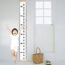 UniqueBella Gráficos de Crecimiento para Niños Regla de Bebé Medidor Tabla de Crecimiento Decoración de Pared, Lona Extraíble Roll Up Medir Altura Record Talltape para Habitación Infantil (200cm*20cm)