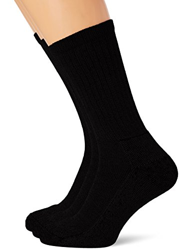 Fruit of the Loom Herren Socken 67-608 3er Pack, schwarz, 39-42 EU (6-8 UK) (Herren-socken Loom)