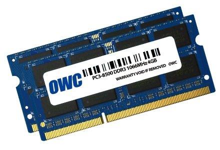 2x 4.0GB PC8500DDR31066MHz 204pin -