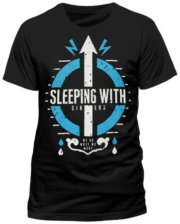CID Herren T-Shirt SLEEPING WITH SIRENS - CARE Schwarz