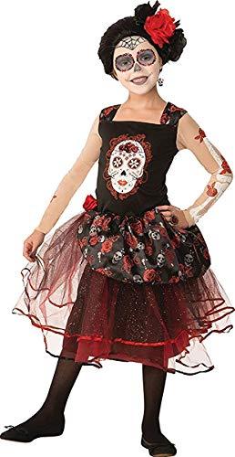 Senorita Kostüm Rose - Onlyglobal Mädchen Halloween Horror Kostüm Party Buchwoche Tag Rose Senorita Kostüm - Multi, Large 134cm - 146cm