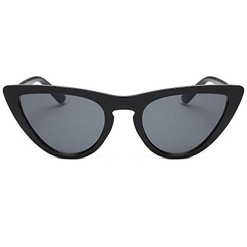 Trada Damenbrillen, Frauen Vintage Film Objektiv Katzenaugen Acetat Kleine Rahmen Shades Acetat Rahmen UV Gläser Sonnenbrille Damen Eyewear Women Sunglasses Cateye Brille (F)