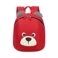 Moneycom Anti-Lost Baby Backpack Child Cute Animal Dog Children Age 1-3 School Backpack Water Resistant Lightweight Unisex Waterproof Red, Black, Pink, Red, Blue