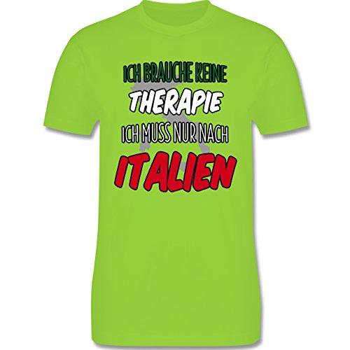 Länder - Ich brauche keine Therapie ich muss nur nach Italien - Herren Premium T-Shirt Hellgrün