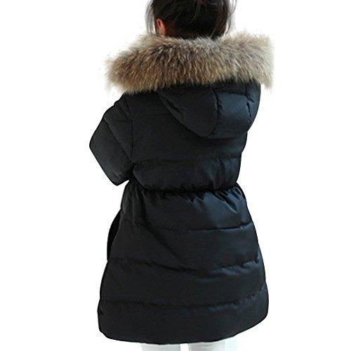 Daunenjacke Kinder Winterjacke mit Kapuze Daunenmantel Lang Mädchen Warm Jacke Verdickte Wintermantel - 5