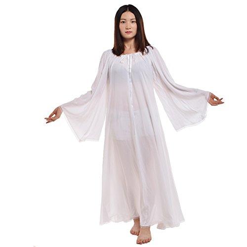 BLESSUME Mittelalterliche Renaissance Frauen Kleid Kleid Weiß