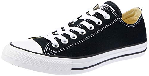 CONVERSE Chuck Taylor All Star Seasonal Ox, Unisex-Erwachsene Sneakers, Schwarz (Black/White), 36  EU - Converse Schwarz High-top