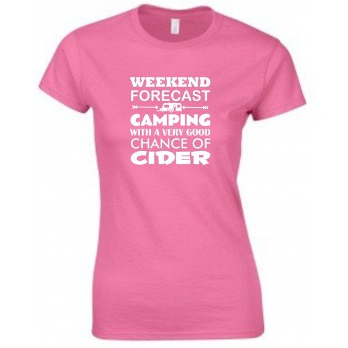 weekend-forecast-cider-caravan-funny-ladies-fitted-t-shirt-sizes-s-xxl-various-colours