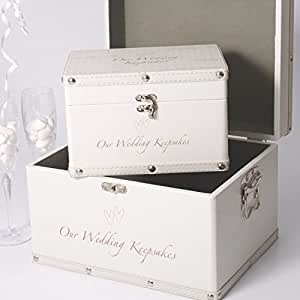 Wedding Keepsake Trunks - Set of 2