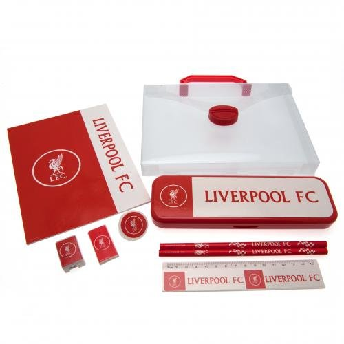 Liverpool F.C. Schreibset CCstationery set in einer Tasche, 1 x Notizbuch 18 x 14 cm, 1 x Lineal, 2...