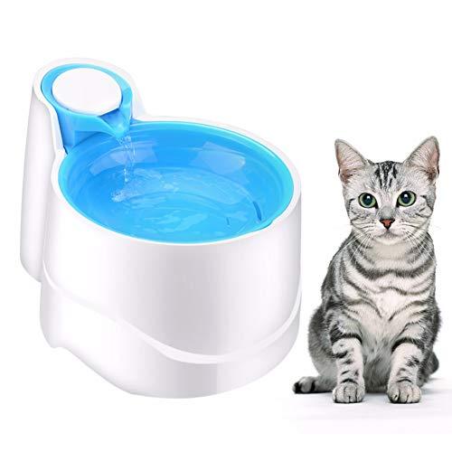 WLDOCA Automatisches Nachtlicht katzenbrunnen,2.5 Liter USB Stromversorgung Wasserspender Tränken für Katzen und kleine Hunde