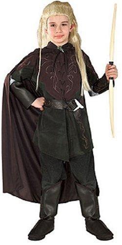 �m aus Herr der Ringe, 4-teiliges Elben Kostüm für Jungen - S (Legolas Herr Der Ringe Kostüm)