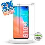 Snatchit Panzerfolie für Samsung Galaxy S10 Plus   2 er Set Schutzfolie   Einfache Installation mit Tool   Ultra dünne Folie   Screen Protector S10+