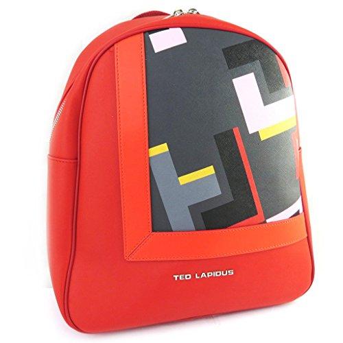 Zaino 'Ted Lapidus'multicolore rosso.