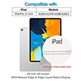 JETech 2-Pack Screen Protector for iPad Pro 11-Inch (2018 Release Edge to Edge Liquid Retina Display), Face ID Compatible, Tempered Glass Film Bild 2