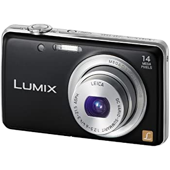 Panasonic Lumix DMC-FS40EG-K Digitalkamera (14 Megapixel, 5-fach opt. Zoom, 6,7 cm (2,6 Zoll) Display, 24mm Weitwinkel, bildstabilisiert) schwarz