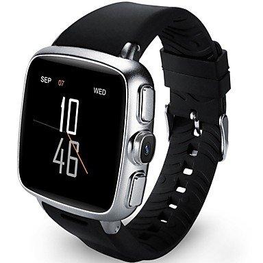Lemumu Z01plus Männer Frau Smar twatch für Android hearlth Bluetoothsupport WLAN GPS-monitor Armbanduhr für Ios Android Telefon, Schwarz