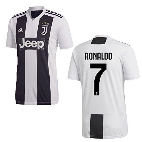 adidas Juventus Turin Trikot Home Kinder 2019 - Ronaldo 7, Größe:152