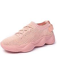 buy popular 7f515 9b14b XIGUAFR Chaussure de Sport de Course Running Femme en Toile Respirant Léger Chaussure  a Lacet Casual