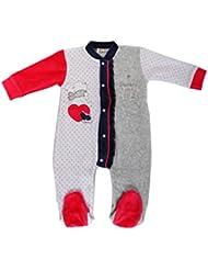 Raikou Mädchen Baby Strampler Schlafanzug Overall aus Nicki mit Süßer Stickerei