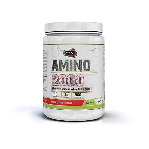 Pure Nutrition AMINO 2000|Premium Essentiell Aminosäuren Komplex Kapseln Hochdosiert|Blend of Whey Amino Acids with Added Leucin|18 Verschiedene Aminosäuren|2000 mg Tabletten|Made in Germany - - Growth-factor Komplex