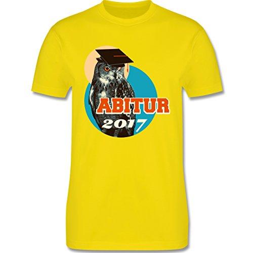 Abi & Abschluss - ABITUR 2017 Vintage Eule - Herren Premium T-Shirt Lemon Gelb