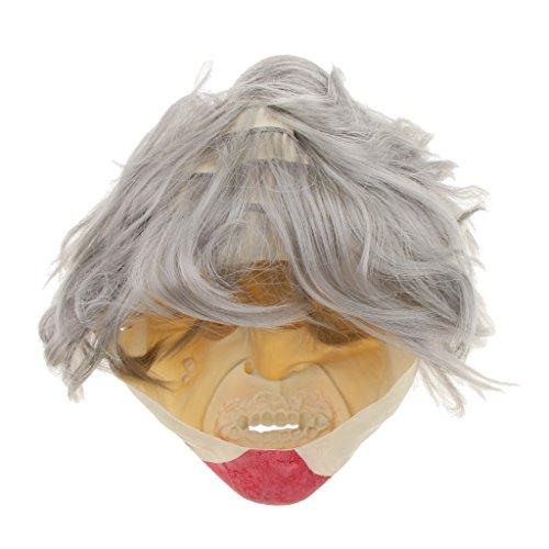 Baoblaze Horrormaske Clown Hexe und Zombie Latex Maske Halloween Cosplay und Karneval Kostüm Accessoires, Eine Größe für alle Menschen, Bequem und Atmungsaktiv - Vampire Zombies