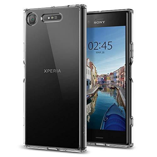 Spigen G11CS22412 Ultra Hybrid für Sony Xperia XZ1 Hülle Einteilige Transparent Durchsichtige Schutzhülle Case - Crystal Clear