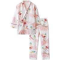 DUKUNKUN Pijamas Dulces para Mujer Otoño Algodón Traje Cálido Kimono,M