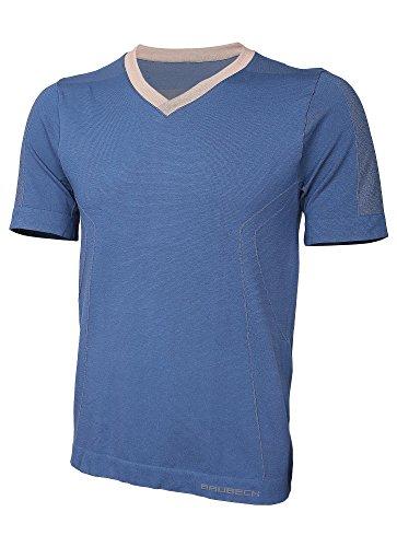 BRUBECK® SS11800 Herren (Kurzarm T-Shirt) | Schlafanzug | MicroModal Air | Klimaregulierender Komfort | Einzigartige Weichheit Blue Jeans