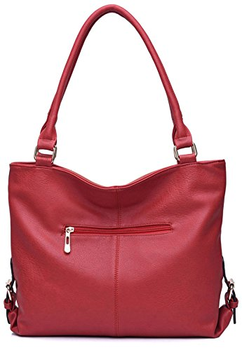 Big Handbag Shop , Sac femme - - Dark Grey (ST166)