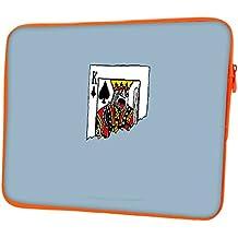 """snoogg le Roi Découpé en demi 30,5cm Étui à rabat pour Kindle à 31,8cm """"à 32cm"""" Sacoche Housse Coque souple Housse de transport pour MacBook Pro pour ordinateur portable ACER ASUS HP Dell Sony Toshiba The King Ripped In Half Designer Orange"""