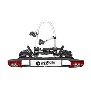 41M2CKXTn%2BL. SS300 Westfalia BC 60 (Ver. 2018) - Portabici ripiegabile da gancio di traino per 2 bici, compatibile eBike con passo fino a 1300 mm, peso massimo 60 kg, Più accessori disponibili - Adattamento universale