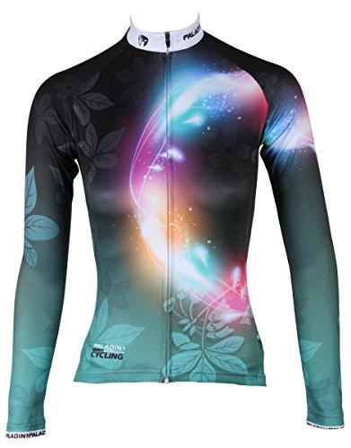 BININBOX® Damen Radtrikot Radsportbekleidung Fahrradbekleidung Langarm Shirt Irisblende (Deutsche Gr.2XS/Hersteller Gr.S)