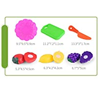 Cutting Toy Set Kids Educational Toys ,Children Kids Cutting Birthday Party Kitchen Food Pretend Play , Kids Pretend Role Play Kitchen Fruit Vegetable Food Toy Cutting Set Gift Toy