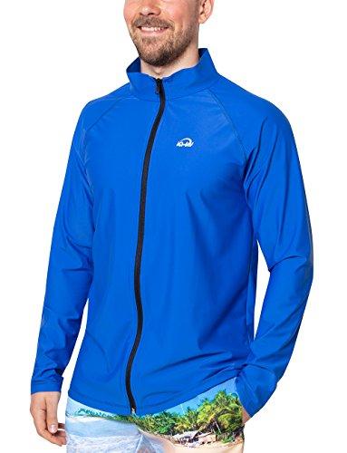 iQ-UV Herren 300 Reissverschluss, Regular geschnitten, Langarm, UV-Schutz Jacke, Dark-Blue, L (52)