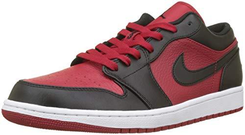 Nike Herren Air Jordan 1 Low Basketballschuhe, Rot (Gym Red/Black/White 610), 47 EU