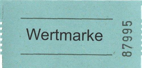 Preisvergleich Produktbild Rollen-Gutscheine Wertmarke, 1000 Abrisse, blau