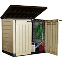 Keter Store-It Out Max Outdoor Plastic Garden Storage Shed, Beige and Brown, 145.5 x 82 x 125 cm