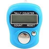 Leegoal Contador de Dedos, Marcador de Punto en S y Fila reseteable Dígitos LCD electrónico Contador de Dedos Contador de Mano (Colores al Azar)