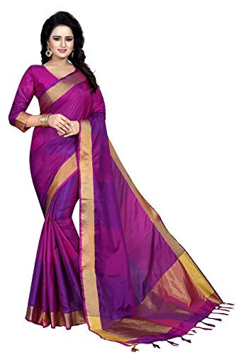 J B Fashion Women's cotton Silk Saree With Blouse Piece (EKKAT-05)