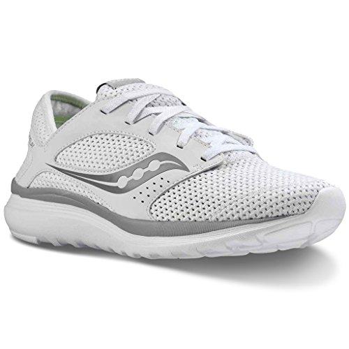 Saucony Kineta Relay, Sneaker Uomo Tempo Libero in Memory Foam White/Grey